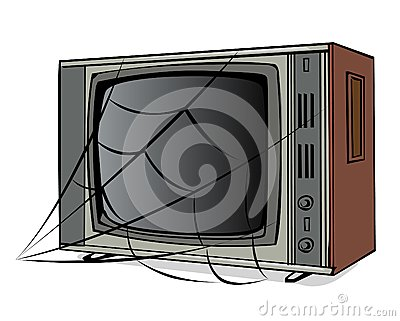 The old TV with a web