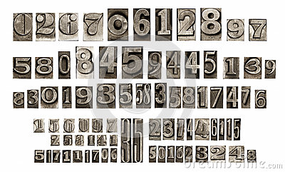 Old typeset numbers