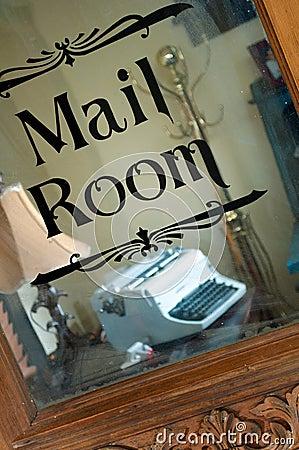 Free Old Typewriter In Mail Room Stock Image - 20808681
