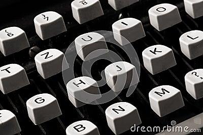 Old typewriter keyboard