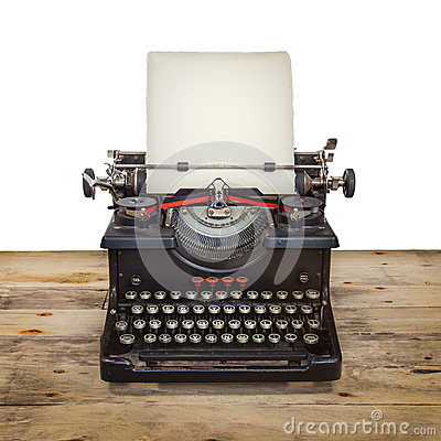 Free Old Typewriter On A Vintage Wooden Floor Stock Photo - 26359900