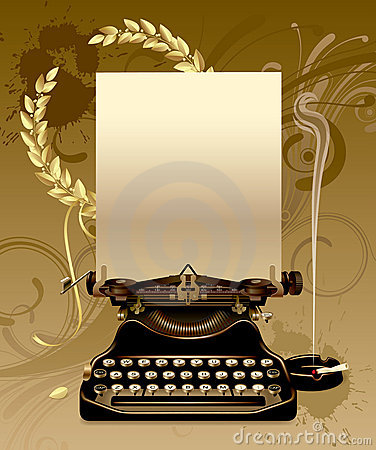 Free Old Typewriter With Laurels Stock Photography - 6155972