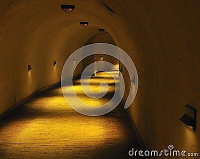 Old underground tunnel.