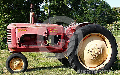 Old Unrestored Massey-Harris Tractor Editorial Photography
