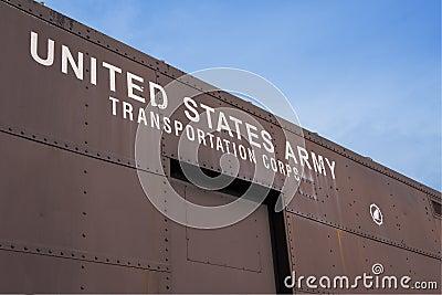 Old US Army railcar