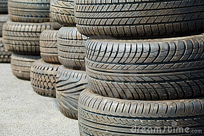 Old used tyre