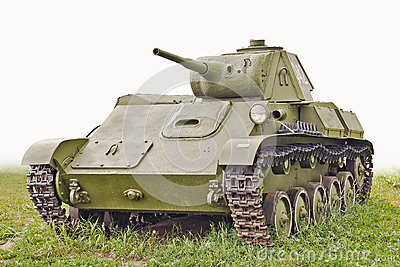 The old USSR tank T-70