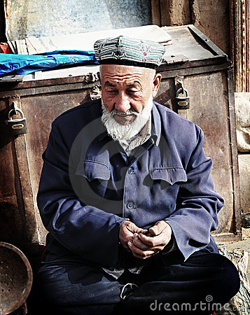 Old Uyghur Man Editorial Photo