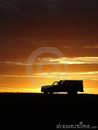 Free Old Vehicle At Sunset Stock Photo - 5441750