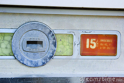 Old vending coin slot.
