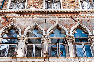 Old venetian window details