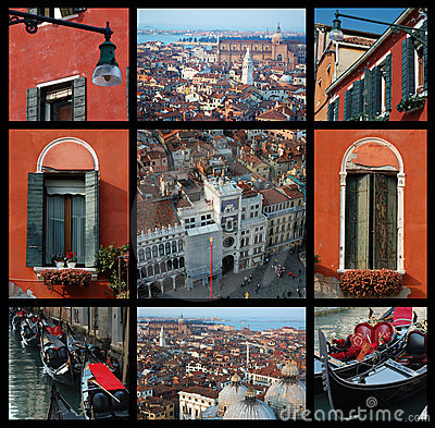 Old Venice collage - travel photos