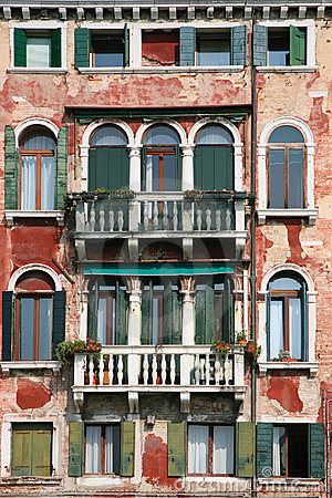 Free Old Venice Facade Stock Images - 11417024