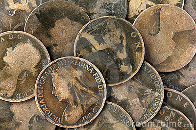 Old Victorian English Pennies