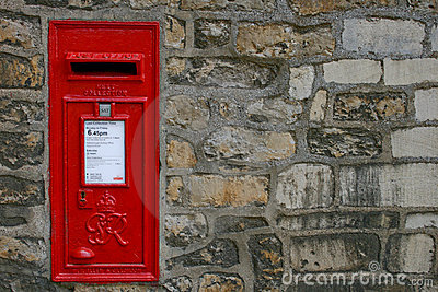 Old Victorian English Post Box