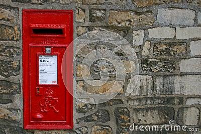 Old Victorian English Post Box