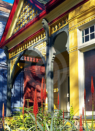 Old victorian house porch