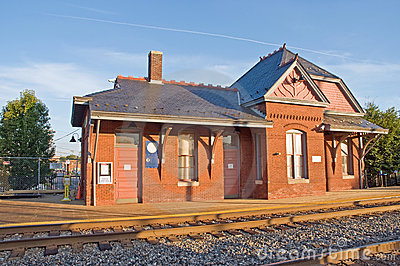 Old Victorian train station