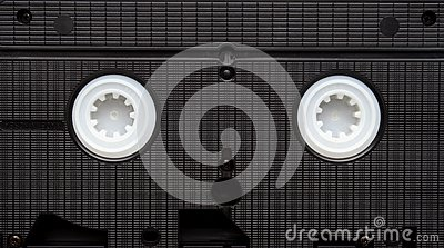 Old video cassette.  Obsolete equipment. VHS