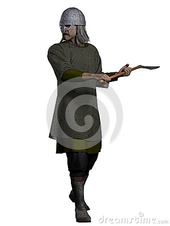Old Viking Warrior with Axe