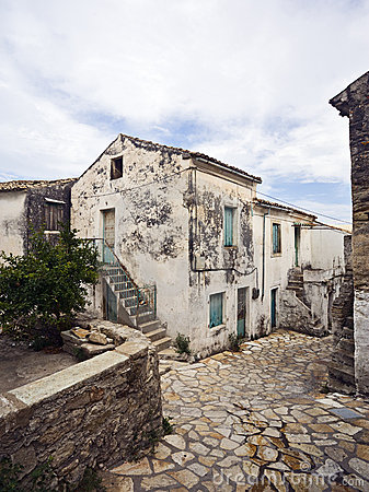 Old village in Corfu, Greece