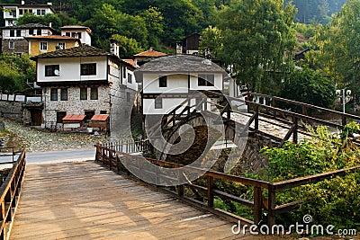 Old village houses from Shiroka luka