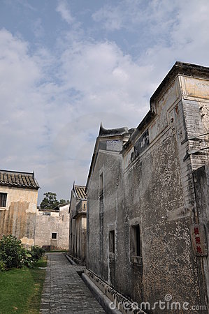 Old village street in Southern China
