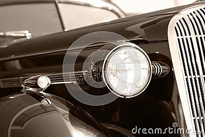 The old vintage black car