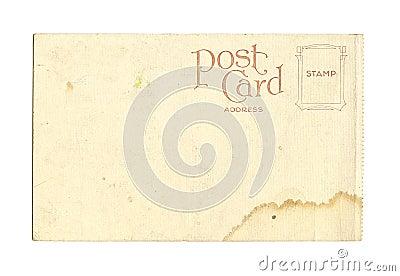 Old Vintage Blank Postcard
