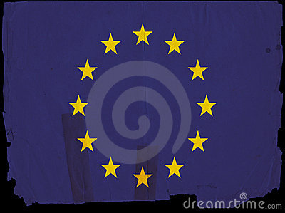 Old Vintage Flag European Union