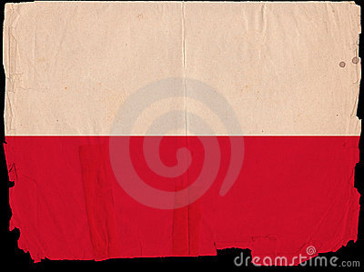 Old Vintage Flag Poland