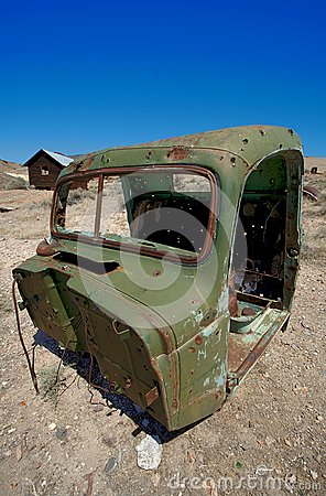 Old vintage green Truck Cab