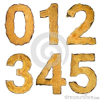 Old Vintage Numbers 012345 Stock Photo Image 60173654