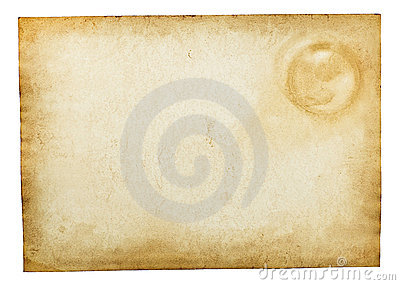 Old vintage paper texture isolated on white
