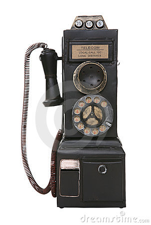 Free Old Vintage Pay Phone Stock Photography - 3321402