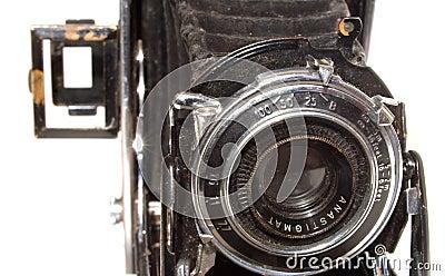 Old vintage photo camera