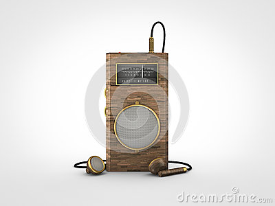 Old vintage portable radio
