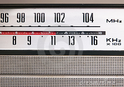 Old vintage radio detail