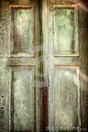 Old vintage retro wooden door