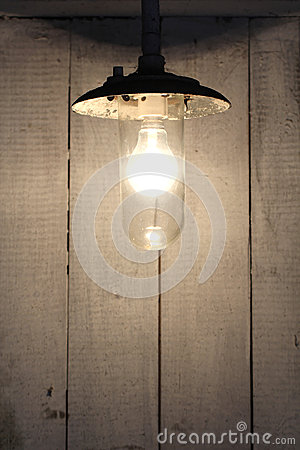 Old vintage rusty bulb lamp