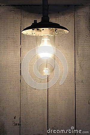Old vintage rusty bulb lamp