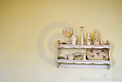 Old, vintage shelf