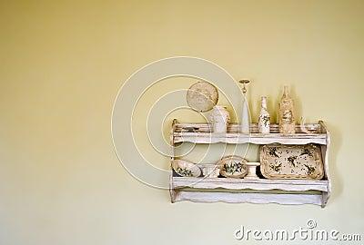 Old, vintage shelf