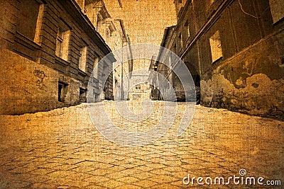 Old vintage street view