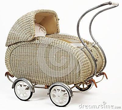 Old vintage stroller