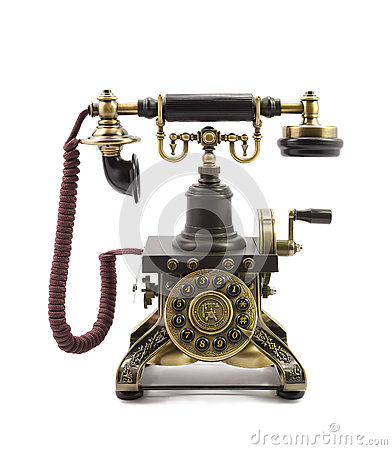 Old vintage telephone