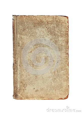 Free Old Vintage Textured Cover Of Book On A White Stock Images - 57606564