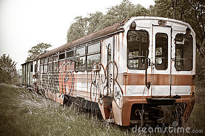 Old Vintage Train Royalty Free Stock Image - Image: 15234246