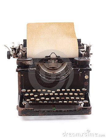 Free Old Vintage Typewriter Royalty Free Stock Photography - 17709987