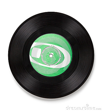 Old vinyl record - clipping path